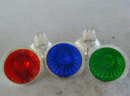Разноцветные галогенные лампы