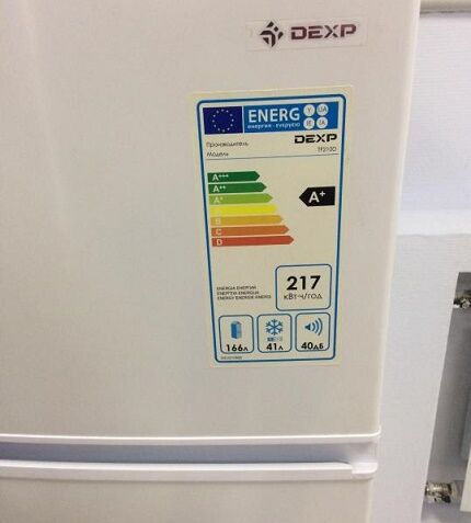 Класс энергопотребления холодильных агрегатов Дексп
