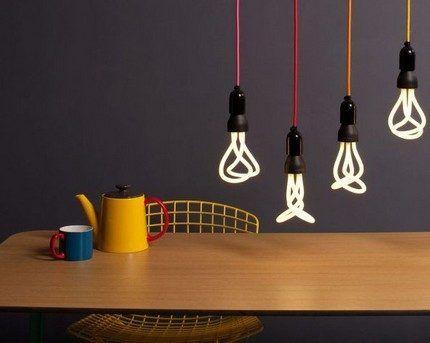 Компактные лампочки в интерьере