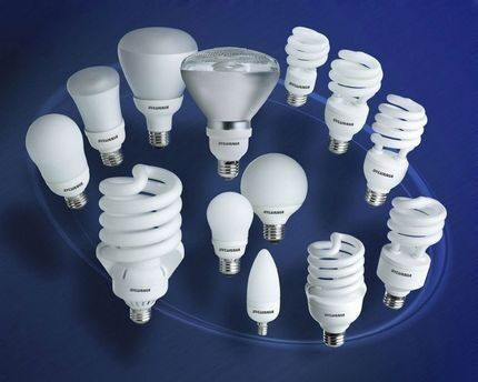 Вариации форм компактных лампочек