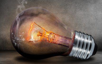 Fire hazard incandescent bulbs