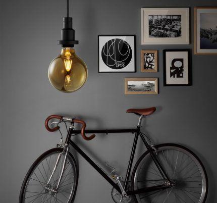 Филаментная лампа в интерьере