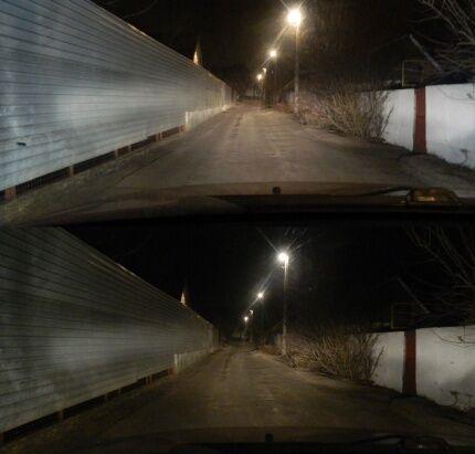 LED car headlight test