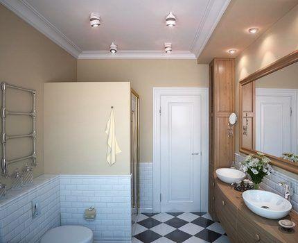 Нейтральное освещение в ванной комнате