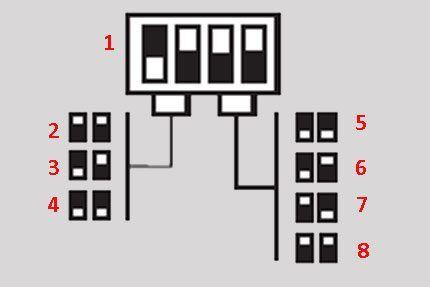 Настройка реле микропереключателями