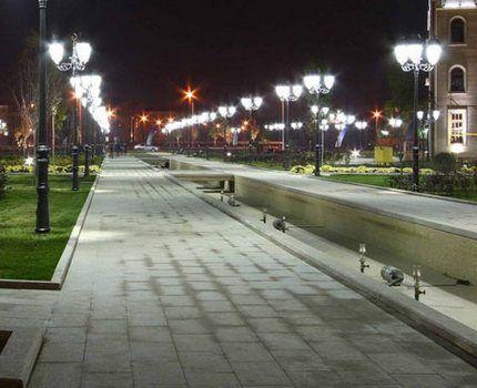 Уличное освещение ртутными лампами