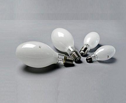 Классические ДРЛ-лампы ртутного типа