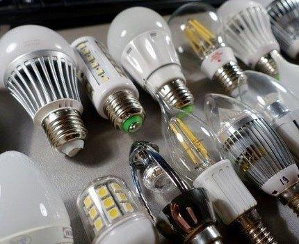 Ряд LED ламп