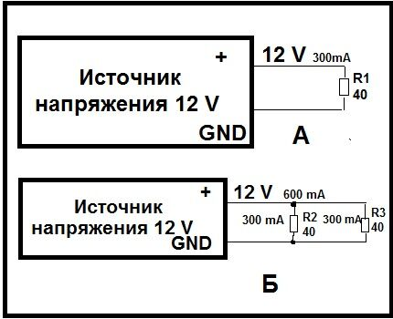 Схема резистора