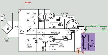 Схемы приборов на мощность до 50 ватт
