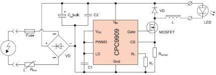 Схема контроллера с СРС9909