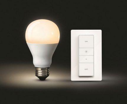 Светодиодная лампа с диммером