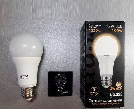 Светодиодные лампы Gauss E27