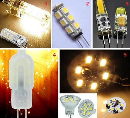 Формы ламп G4