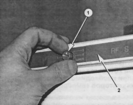 Удаление регулировочной ручки