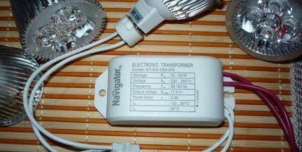 Галогенная лампа с трансформатором