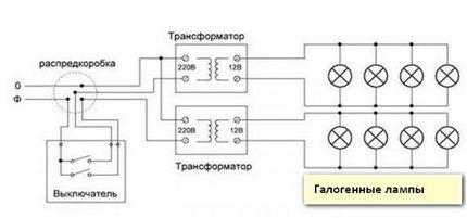 Схема подключения галогенных ламп