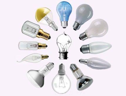 Ассортимент ламп накаливания