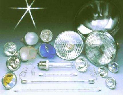 Разные виды галогеновых ламп