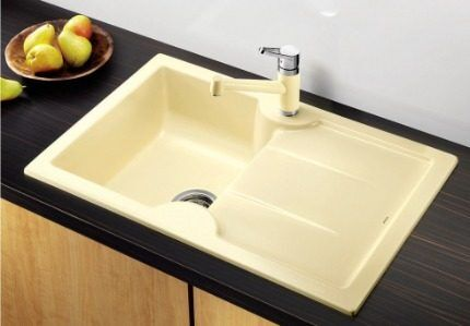 Mortise kitchen sink
