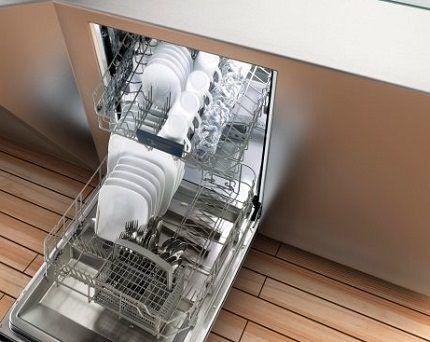 Корзины в посудомойке Горенье