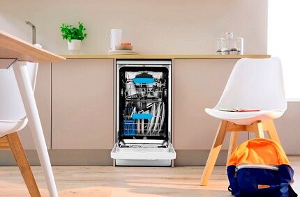 Silent operation of the dishwasher Indesit