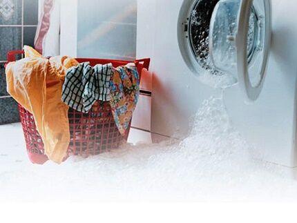 Неправильный слив воды из бака стиральной машины