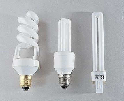 Люминесцентные лампы разных конфигураций