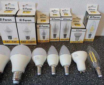 Китайские лампы для точечных светильников