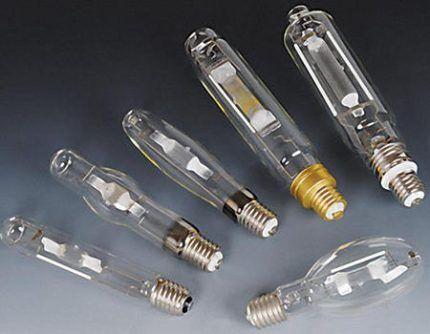 Натриевые лампы с разными цоколями