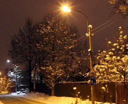 Уличное освещение натриевыми лампами