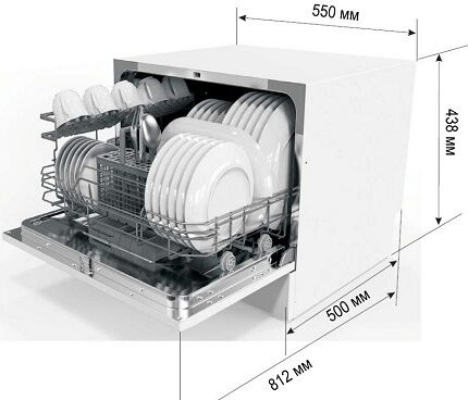 Размеры компактной машинки