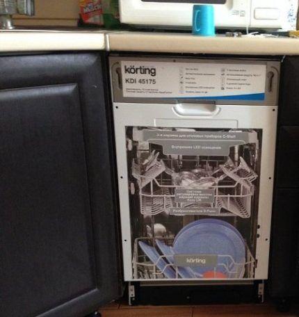Оптимальное место для монтажа посудомоечной машины