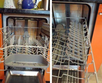 Полностью встраиваемая модель посудомойки