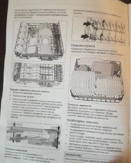 Инструкция к посудомойке