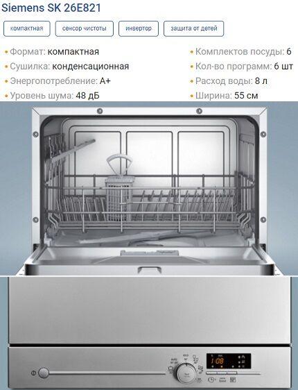 Характеристики SK26E821