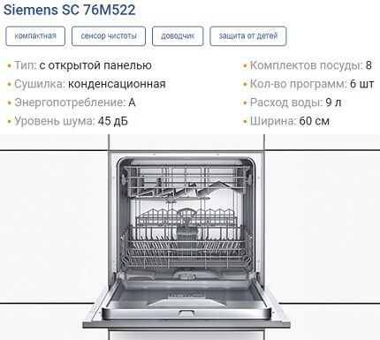 Характеристики SC76M522