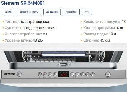 Характеристики SR64M081