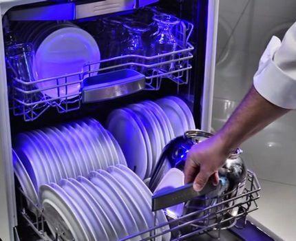 Машина, загруженная посудой
