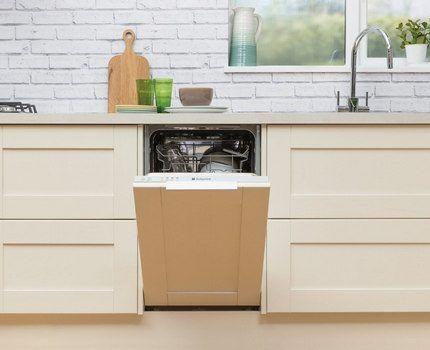Встроенная в мебель посудомойка