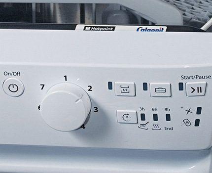 Поворотный тумблер на посудомойке