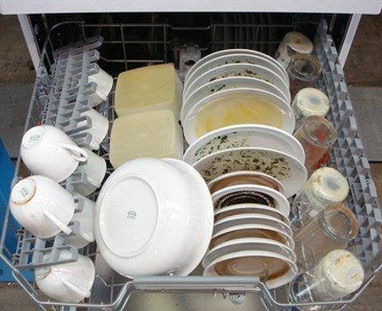 Посудомойка в полной загрузке