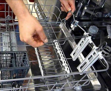 Внутренние корзины посудомойки