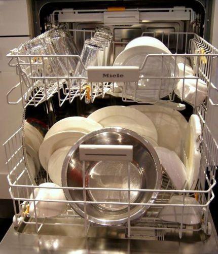 Порядок укладки посуды в ПММ