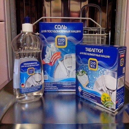 Соль NaCl для посудомоечной машинки