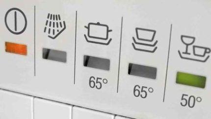 Режимы работы посудомойки