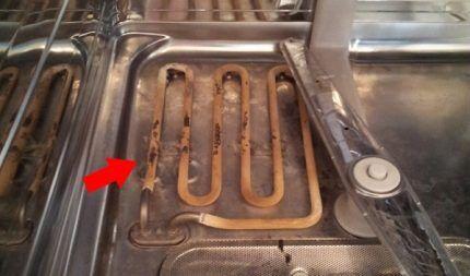 Очистка ТЭНа посудомоечной машины