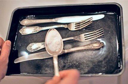 Ложки, ножи и вилки из серебра