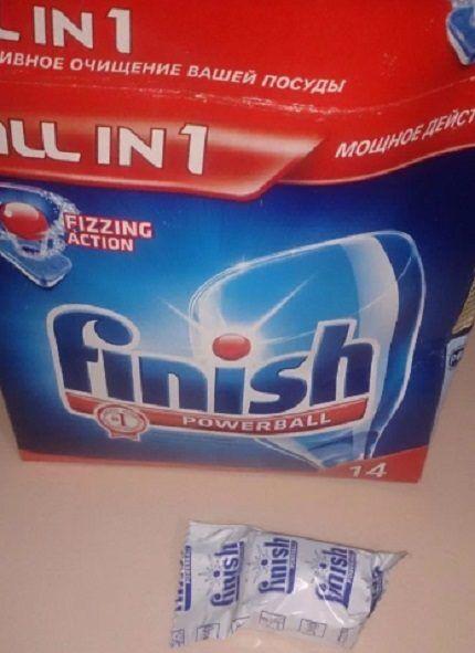 Таблетки для посудомойки Финиш