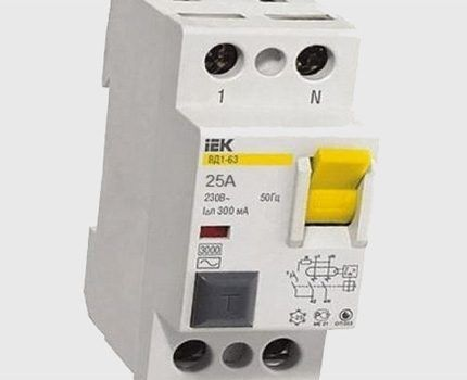RCD for current 300 mA